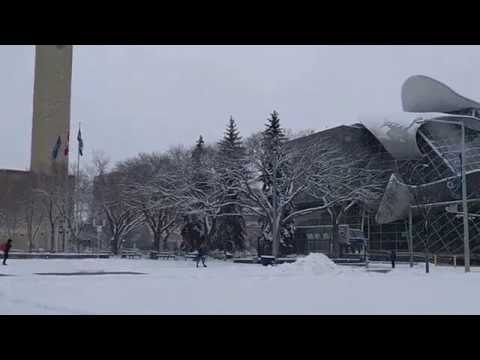 Snow in Edmonton Alberta Canada autumn of 2016