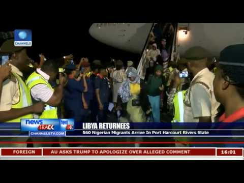 Libya Returnees: 500 Nigerian Migrants Arrive In Port Harcourt Rivers State
