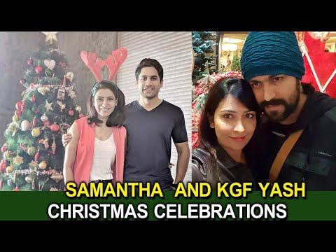 Samantha & KGF Yash Christmas Celebrations || Celebrity News || Telugu Small Tv