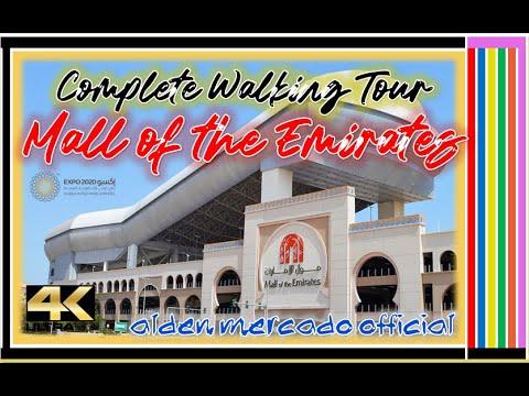 4K, Complete Walking Tour at Mall of The Emirates, Dubai