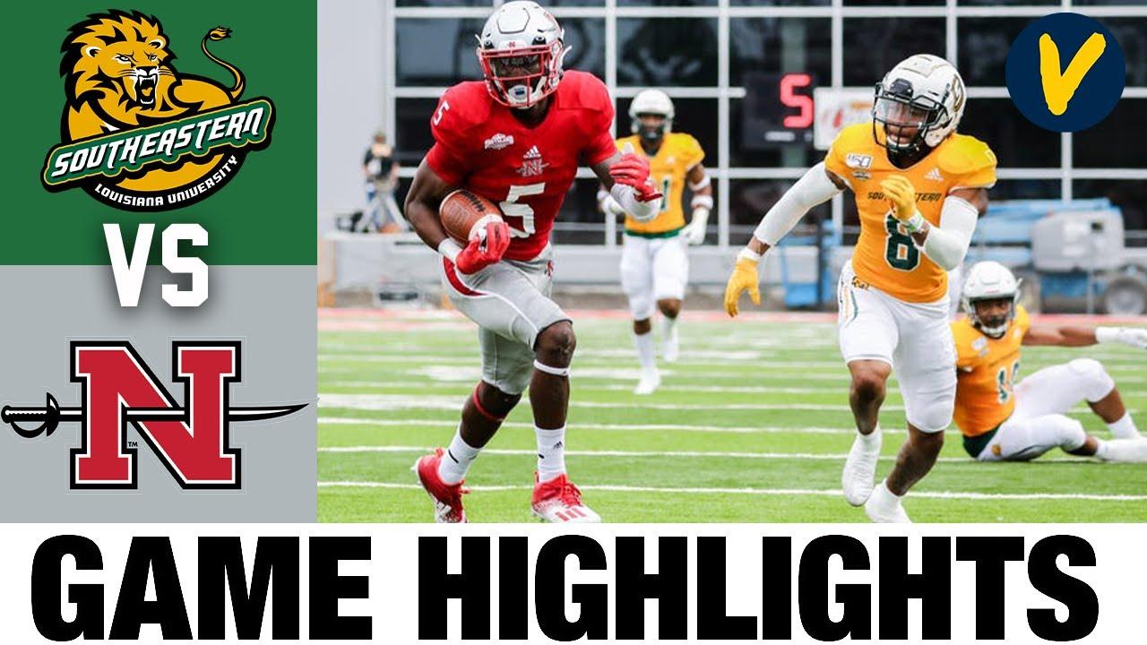#23 SE Louisiana vs #18 Nicholls Highlights | FCS 2021 Spring College Football Highlights
