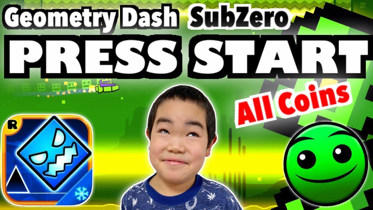 Geometry Dash SubZero【PRESS START】(All Coins) ジオメトリーダッシュ