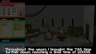 The Premiere of the 8th Paper Mario: TTYD any% Tool-Assisted Speedrun