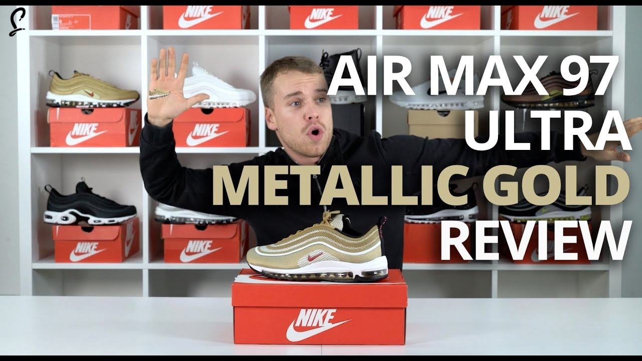 Nike Air Max 97 Gold Unboxing review. The Sole Supplier 797e274e6