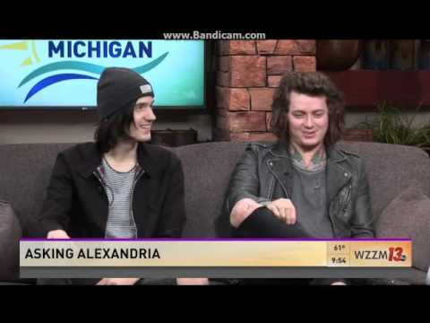 Asking Alexandria: Interview + The Black acoustic [at WZZM13]