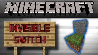 Minecraft - Invisible Redstone Dust Switch For Hidden Doors (No BUD) [Tutorial]