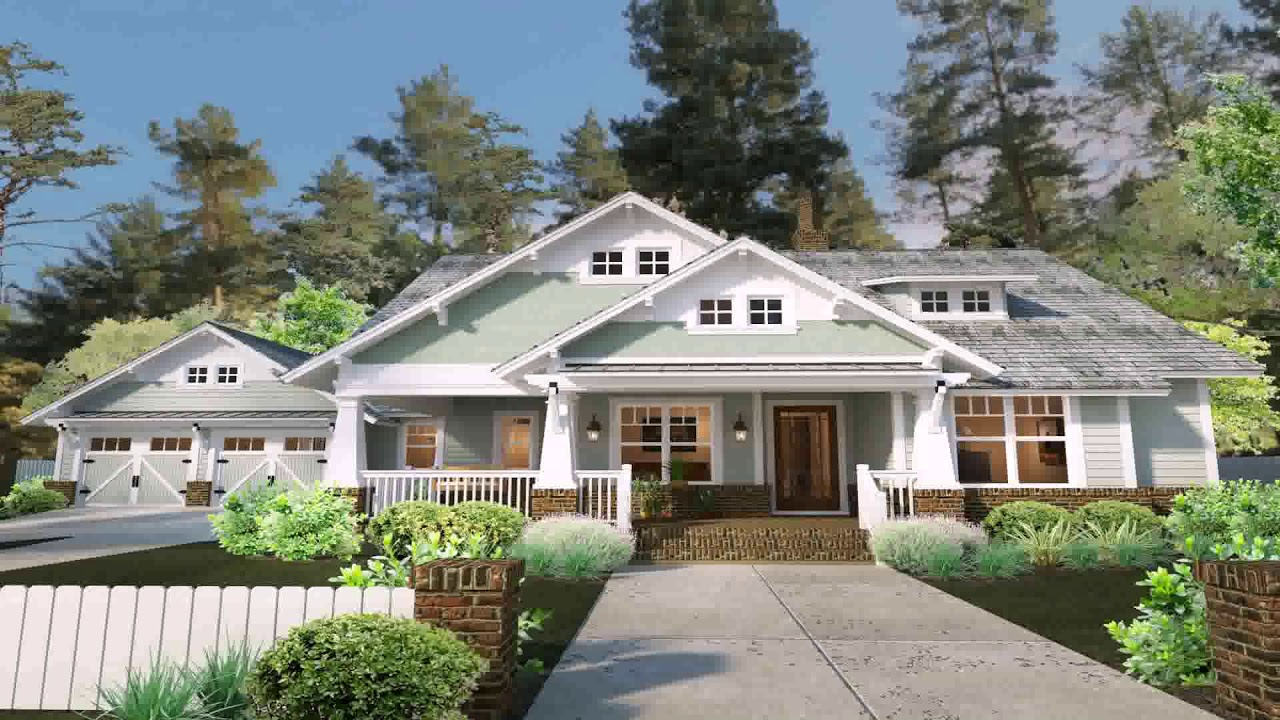 One Story Modern Farmhouse Plans - YouTube