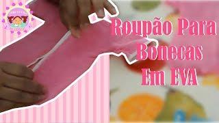 Como fazer roupão da boneca porta papel higiênico com Zilda Castilho