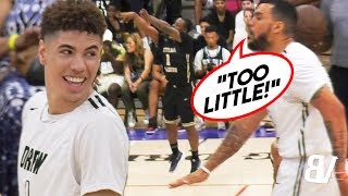 """TOO LITTLE"" Player LIGHTS OUT After LaMelo's Teammate TRASH TALKS HIM! + LaMelo One-Handed OOP!"