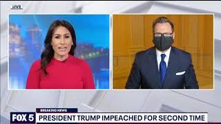 President Trump impeached for second time following Capitol riot | FOX 5 DC