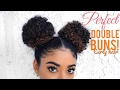 PERFECT DOUBLE BUNS - CURLY HAIR | jasmeannnn