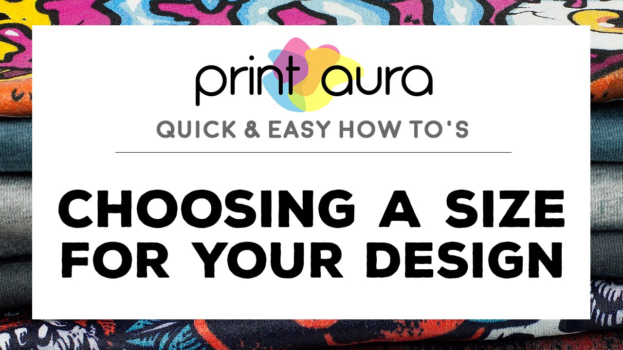 How To Choose The Size Of Your T Shirt Design Youtube