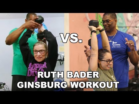 I Tried Ruth Bader Ginsburg's Workout WITH HER ACTUAL TRAINER!
