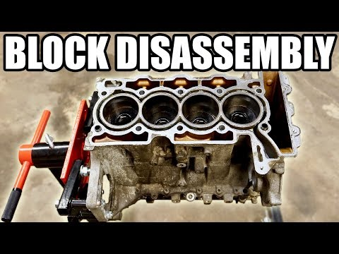 How to Completely Disassemble an Engine Block / Short Block