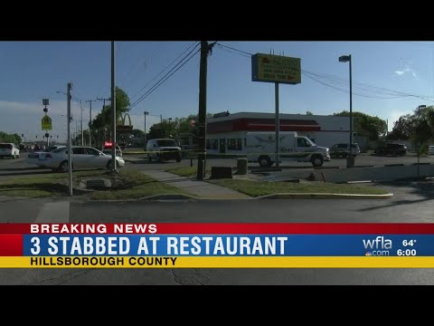 3 stabbed at Tampa restaurant