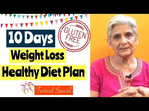 10 Days Gluten Free Weight Loss Vegetarian Diet Plan | Navratri Special | Diet to Lose Weight |Hindi