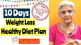 10 Days Gluten Free Weight Loss Vegetarian Diet Plan | Navratri Special | Diet to Lose Weight |Hindi