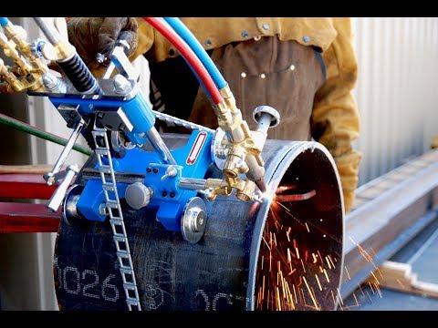 BLUEROCK CG-211Y Manual Pipe Cutting/Beveling Torch Machine