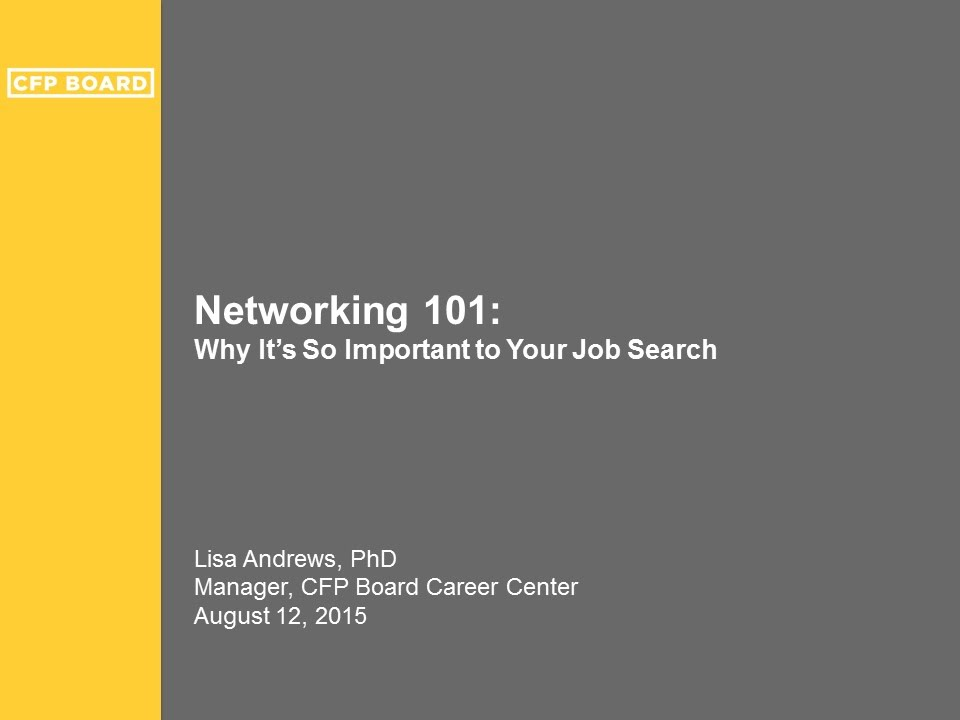 Networking 101: Why Itu0027s So Important To Your Job Search