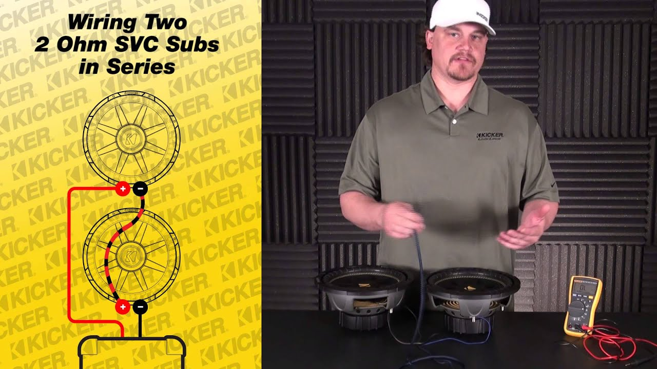 subwoofer wiring two 2 ohm single voice coil subs in series [ 1280 x 720 Pixel ]