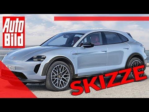 Porsche Macan 2021 Auto Neuvorstellung Skizze Suv Elektro Infos Youtube