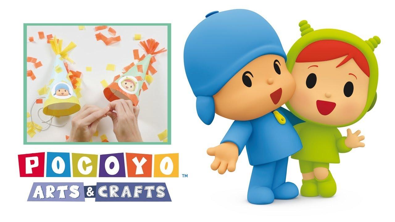 Pocoyo Arts & Crafts: Sombreros de cumpleaños de Pocoyó y ...