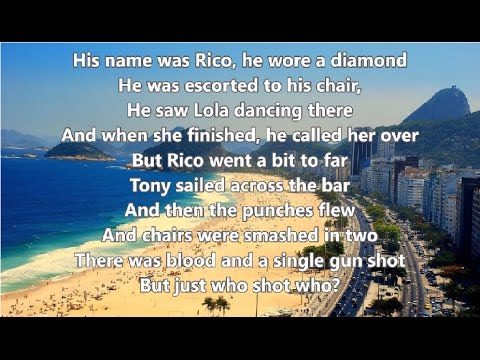 Copacabana - Barry Manilow - Lyrics