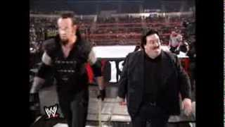 Undertaker (Ministry) v Big Show match - breaks a baseball bat over Big Show