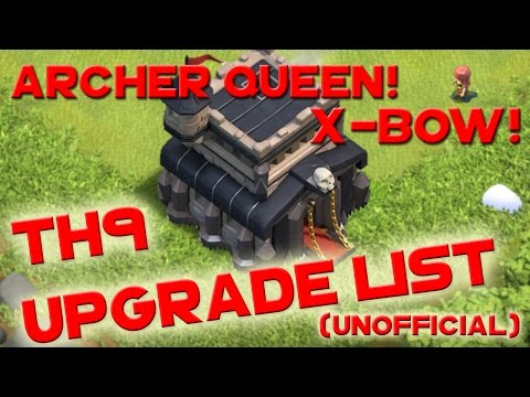Clash of Clans - TH9 UPGRADE ORDER PRIORITY LIST
