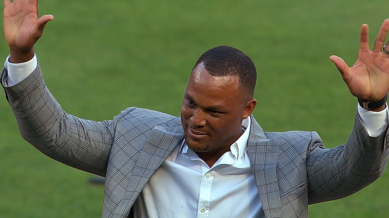 Adrian Beltre's number retirement ceremony