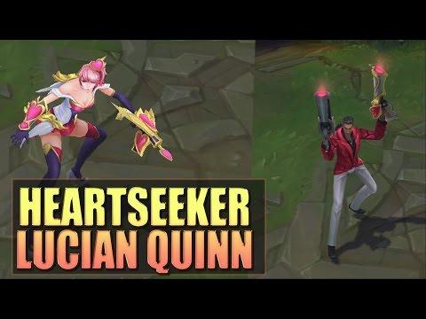 HEARTSEEKER LUCIAN & QUINN Skins Spotlight Gameplay - League of Legends