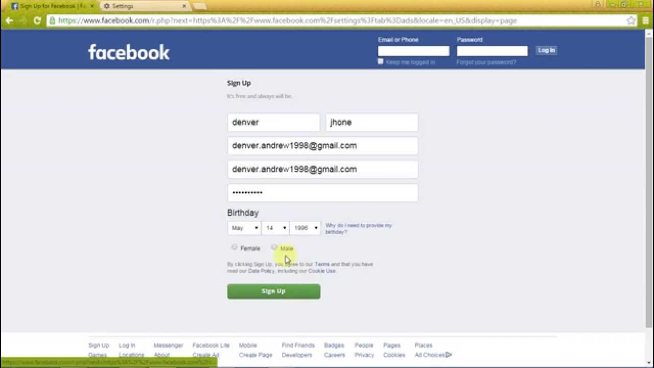 How To Create A New Facebook Account And Safe It Youtube