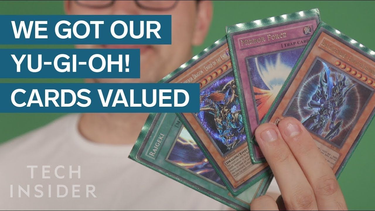 we got our childhood yu gi oh cards valued youtube