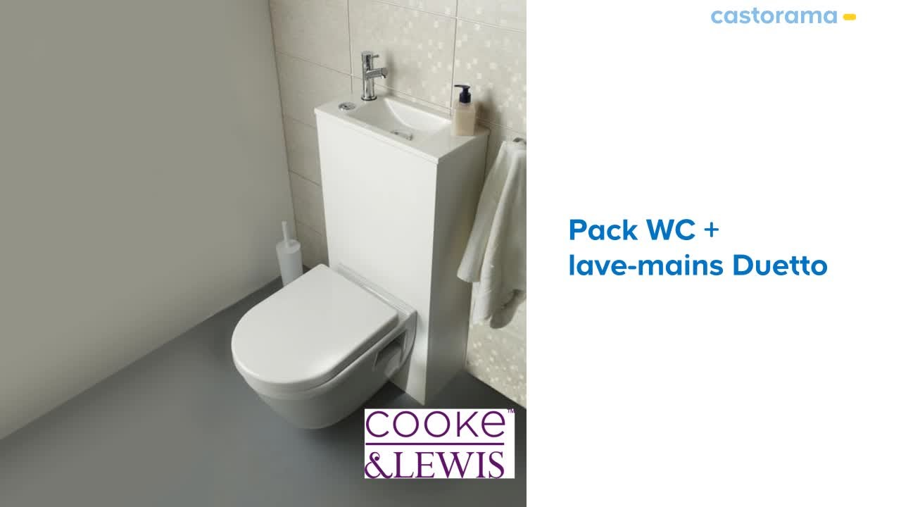 Pack WC Duetto 2 Cooke & Lewis 3/6L | Castorama