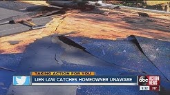 Lien law catches another homeowner off guard