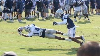 Raw Footage of Dallas Cowboys Practice 8/1/18