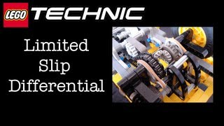 LEGO Technic Custom Flat-bed Truck - Limited Slip Differential (LSD) Operation
