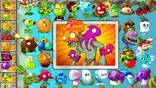 Every Plant Power-Up! Plants vs Zombies 2 vs Octo Zombie PVZ (Plantas Contra Zombies 2)