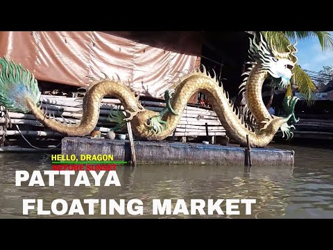 PATTAYA FLOATING MARKET HD|PATTAYA CITY|KINGDOM OF THAILAND/SIAM|BOAT ROWING
