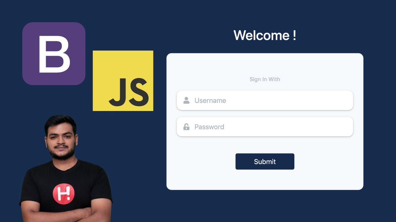 How to Create Responsive Login Page Using HTML, CSS, Bootstrap & JQuery