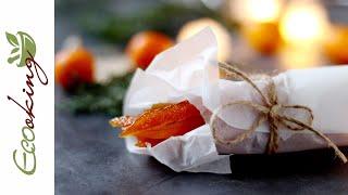 Цукаты из апельсиновых корочек без сахара (на сиропе топинамбура)