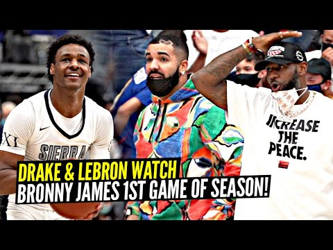 Drake & LeBron Watch BRONNY'S FIRST GAME OF THE SEASON!! Sierra Canyon FIGHTS For The Championship!!