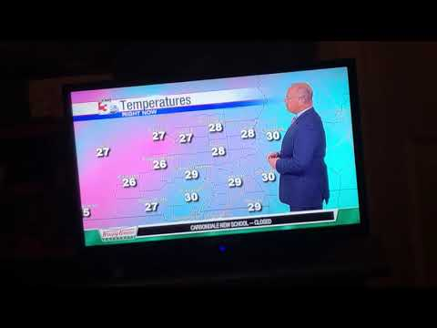 11-14-18 WSIL TV Weather Report @ 10 PM