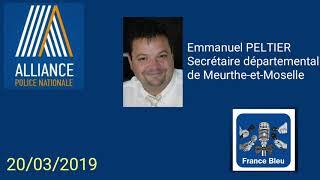 Rassemblement policier Meurthe et Moselle en hommage à Xavier Jugelé