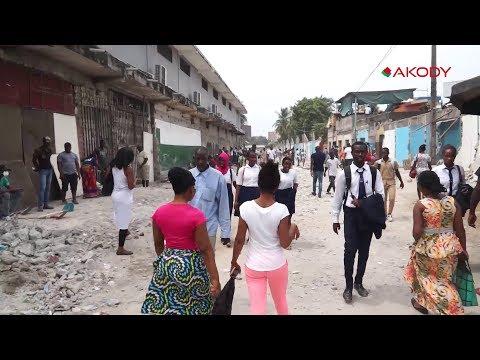 Destruction du marché de koumassi alias Djè konan