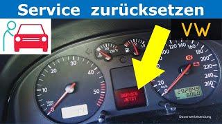 Inspektion zurücksetzen beim VW Golf 4 + Passat 3B + 3BG / VW Service Reset