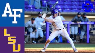 Air Force vs #12 LSU Highlights (Game 1) | 2021 College Baseball Highlights