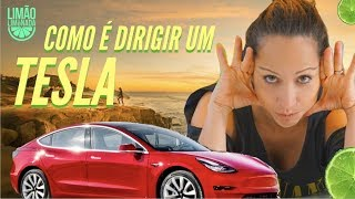Tesla modelo 3:  Como é dirigir um carro elétrico.