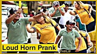 LOUD HORN PRANK IN INDIA | Loud horn prank in public | Karan Kotnala