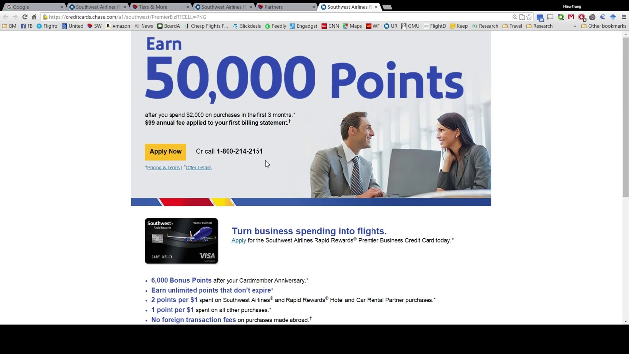 1 877 294 2894 How to book southwest flight with points - YouTube